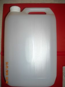 Brand new 5 x 5 litre chemical resistant HDPE opaque bottle